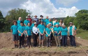 Group shot of the North Hall Dig Team