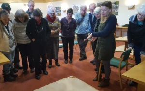 Medieval Study Group looking at old map