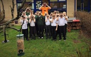 Keen birders at a local school