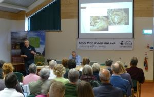 Matt giving a talk about dormice
